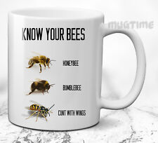 Know Your Bees Funny Novelty Mug Cup Gift Office Secret Santa - Ceramic 330ml
