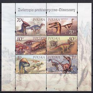 Poland 2000 Dinosaurs MNH sheet