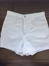 American Apparel White Denim Shorts Size 25