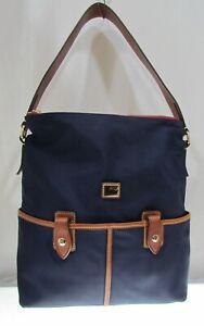 NAVY Dooney & Bourke Camden Collection Nylon TOTE Sac Handbag