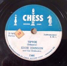 EDDIE JOHNSON on CHESS 1544 - Tiptoe / Twin Rock - RARE Chicago Blues Jazz 78 V+
