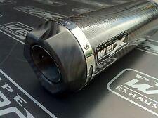 Honda CBR 1100 XX Blackbird Pair of Carbon GP, Carbon Outlet Race Exhausts, Cans