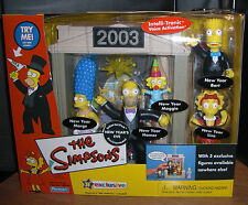 The Simpsons Interactive Exclusive New Year's Eve 2003 Toys R Us Homer Bart NIB