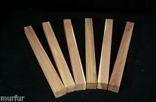 6 piece Red Cedar Lathe Turning Pen Blanks Carving 1 x 1 x 12 inch