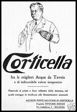 PUBBLICITA' 1921 CORTICELLA ACQUA MINERALE WATER TERAPIA FONTI V.BORGHI BOLOGNA