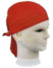 Plain RED cotton bandana bandanna durag /skull cap/ skull wrap