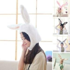 CUTE GIRL HAT PLUSH RABBIT BUNNY EARS HAT EARFLAP CAP PHOTO SUPPLIY HEAD N2L4
