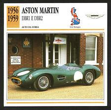 SCHEDA TECNICA AUTO - ASTON MARTIN DBR1 E DBR2 - 1956/1959 - GRAN BRETAGNA