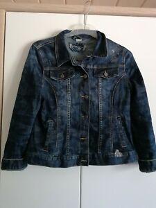 Ausgefallene Jeansjacke von Liberty Gr L mit Strass  schöne Musterung