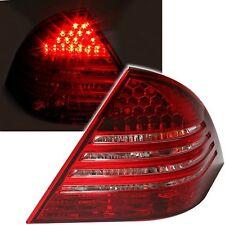 2 FEUX ARRIERE LED MERCEDES CLASSE C W203 5/2000 A 3/2004 BLANC ROUGE CRISTAL
