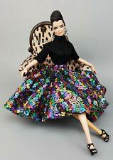 Handmade Dress Outfit Black Jumpsuit Skirt Fit Silkstone Fashion Royalty Rupaul