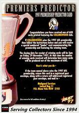 1997 Select AFL Ultimate Card Series Box Card BC1 Jason Dunstall (Hawks)