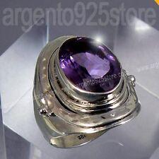 Anello Donna in Argento 925 con Ametista - BAROCCO Essential bn
