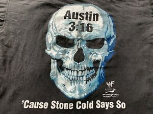 Vintage 1990's 90's  Stone Cold Steve Austin WWF WWE T Shirt Wrestling The Rock