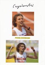 Pawel Czapiewski  Polen  Leichtathletik  Karte signiert WL 346469