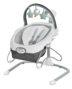 Graco Soothe 'n Sway LX Adjustable Swing Seat with Portable Baby Bouncer Derby
