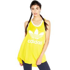 adidas Originals Womens Trefoil Logo Tank Top Sleeveless Vest Tee T-shirt 8uk