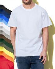 Stedman Comfort T-Shirt Plain Cotton BLACK BLUE GREEN GREY WHITE Tee Tshirt