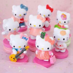 Hello Kitty KT Miniatures Cartoon 8 PCS Action Figure Gift Kids Toy Cake Topper