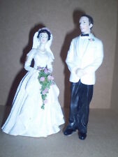 Dolls house figures 1/12th scale poly/resin Bride and Groom