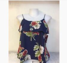 WOMEN'S FLORAL SLEEVELESS BLOUSE NC -  NAVY BLUE