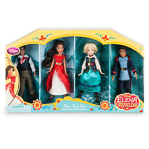 New Disney Store Elena of Avalor Mini Doll Set 5'' Elena, Mateo, Naomi, Gabs