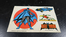 1978 DC Comics Procorp Inc Batman Robin Batmobile Sticker Lot