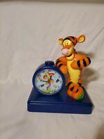 Disney Vintage Fantasma Tigger Winnie The Pooh Talking Alarm Clock WORKS