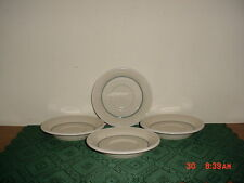 "4-PIECE DACHI ""GENZO"" CONTEMPORARY TABLEWARE 5 3/4"" SAUCERS/CREAM-GREY/SALE!"