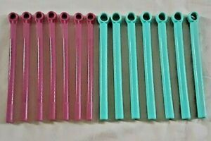 Conair Hot Sticks 14 Replacement Rollers Curlers 7 Purple 7 Blue Flexible V10297