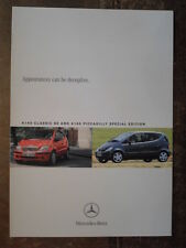 MERCEDES BENZ A CLASS A140 CLASSIC SE & PICCADILLY 2004 UK Mkt Sales Brochure