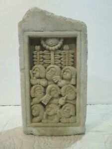 """Carruth Concrete Plaque Decoration or Door Stope 1994 In/Outdoors 10"""" tall"""