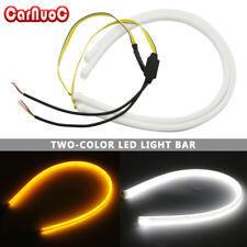 2x 45cm Flowing LED Flexible Tube Daytime Running Light Turn Signal Lamp Strip
