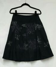 Womens Next Black Embroidered Skirt Size 8 A-line skirt Womens Skirt