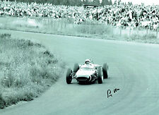 Stirling MOSS Signed Autograph 16x12 Motor Racing Lotus Photo AFTAL COA