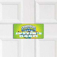 SKYLANDERS SWAP FORCE personalised BEDROOM DOOR PLAQUE boys girls wall name sign