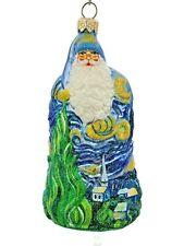 Patricia Breen Starry Night Santa Van Gogh Painting Christmas Tree Ornament