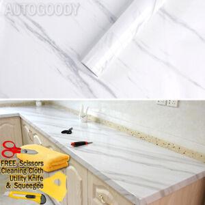 Gloss Marble Granite Wallpaper Vinyl Wrap Film Home White Black Pink Grain Stone