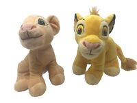 "Disney Lion King 2 Piece Lot Baby Nala and Simba Cub 8"" Character Plush Set"