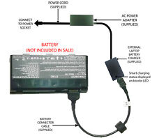 External Laptop Battery Charger for MSI GT660 GT70, GX660, GX680, GX780, BTY-M6D