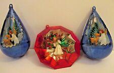 Vintage Christmas Angel Ornaments Set of 3