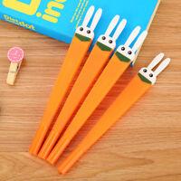 6Pcs Fashion Cute Rabbit Carrot Radish Ball Pen Office School Supply Stationery