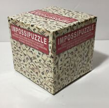 "Impossipuzzle ""Scramble"" 100 Piece Scrabble Tile Jigsaw Puzzle NIP Sealed"
