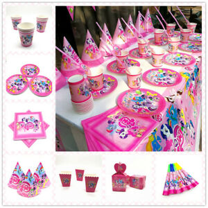 My Little Pony Birthday Party Supplies Bag Tableware Plates Cups Napkins Balloon