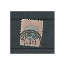 """Nederland 47B met """"MAASSLUIS 1899"""" Dubbelring VFU/gebr CV 175++ €"""