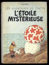 TINTIN   L'ÉTOILE MYSTÉRIEUSE  4ème plat B1  1947    HERGÉ  CASTERMAN