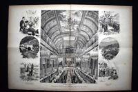 Inaugurazione della ferrovia Novara-Pino e le feste di Genova Incisione del 1882