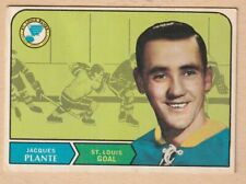 HOCKEY CARD NHL 1968-69 JACQUES PLANTE ST. LOUIS BLUES #181 VERY NICE