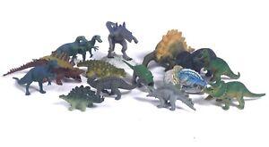 Lot of 15 Dinosaur Dragon Hard Plastic/Rubber Toy Mixed Brands Sizes Safari AAA+