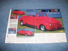"1940 Ford Convertible Vintage Calle Barra Artículo"" Forty Plus """